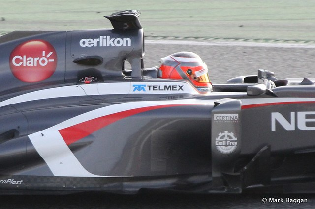 Nico Hülkenberg in his Sauber at Formula One Winter Testing, March 2013