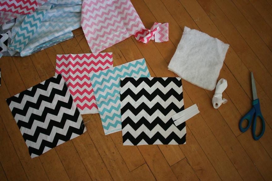 hot pad materials cut