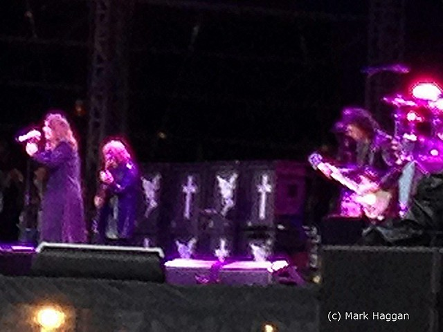 A blurry Black Sabbath play at Download 2012