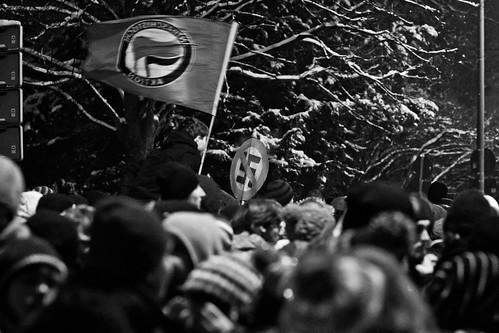 13 februar 2013 Blockade  Parkstraße