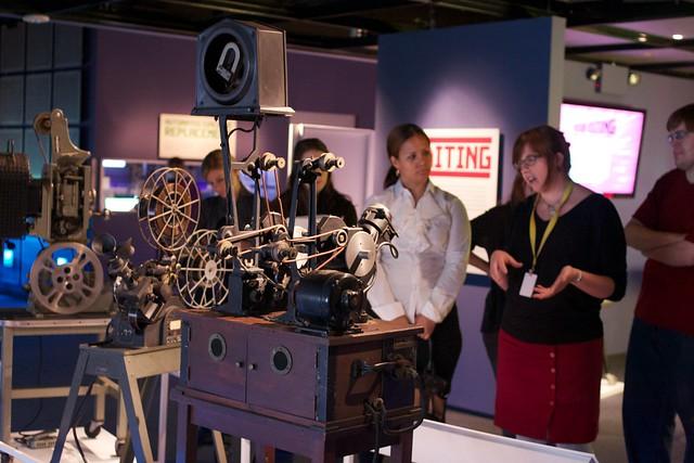 Moviola sound editing machine