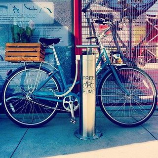 Public Bike Pump at Science World