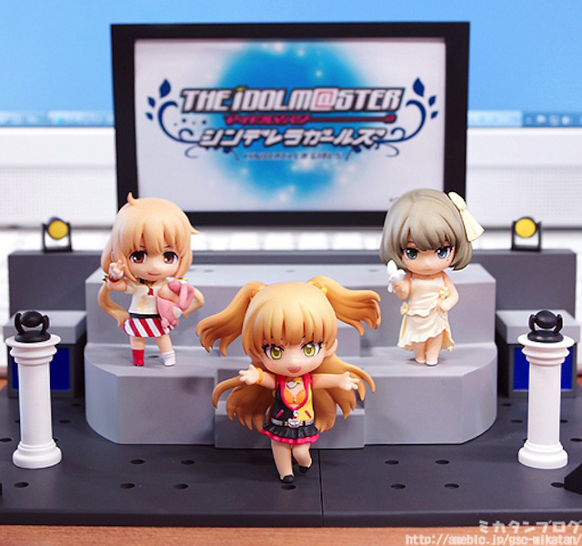 Nendoroid Petite: IDOLM@STER Cinderella Girls - Anzu, Kaede and Rika Live Stage set