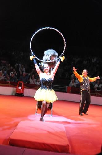 Natalya and Jorge Pompeyo with their Acrobatic Pups, Circus Sarasota, Feb. 15, 2013
