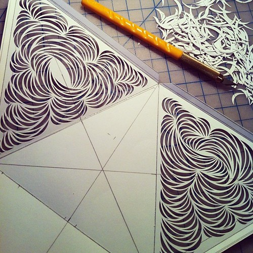Work in progress paper cutting construction. Very rough at the moment. Exploring ideas for new work.