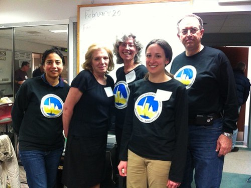Photo of fiave chapter volunteers at WAMU