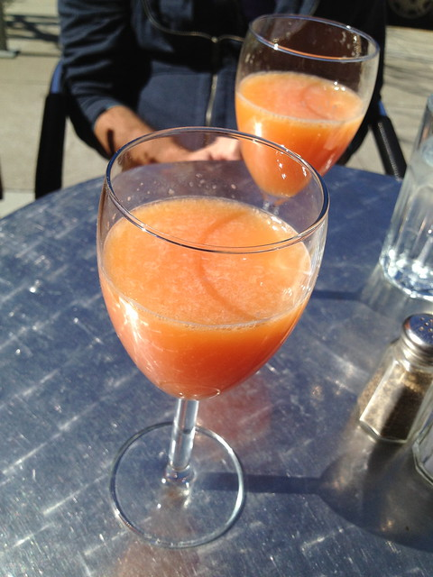 Bottomless blood orange mimosas - Noeteca