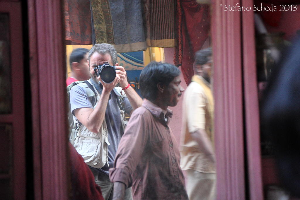 Photographing in Benares - India