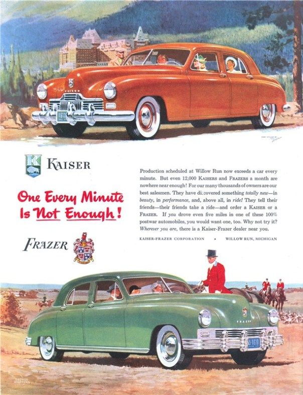 Kaiser-Frazer - published in The Saturday Evening Post - September 6, 1947
