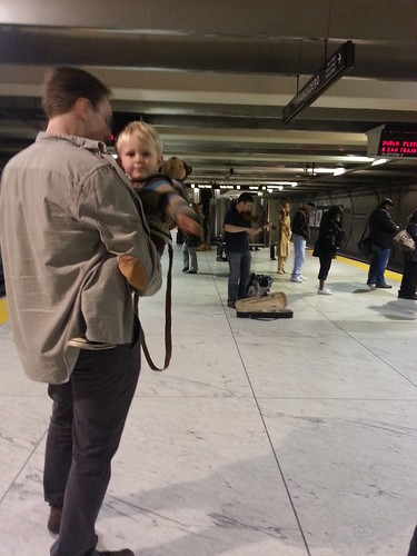 Dancing in the Embarcadero BART station by marymactavish