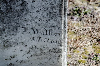 T. Walker signature stone