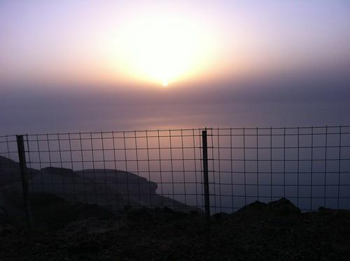 Dead Sea at sunset in Jordan (February 2013)