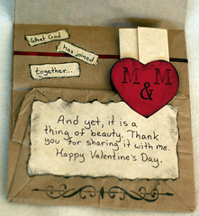 Inside paper bag valentine