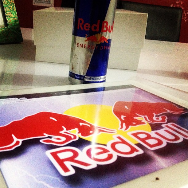 Red bull wings coming out of the Retina Display iPad 4