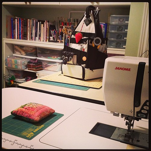 Feb 11 - my happy place {my sewing/quilting/creating room} #photoaday #quilting #janome