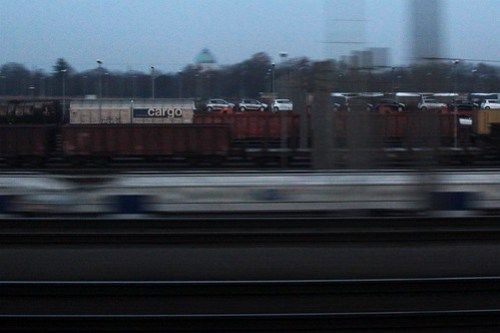 A lone 'Cargo' wagon stands out