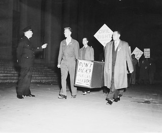 Demonstration Protests DC Police Raid on Veterans Dance: 1948