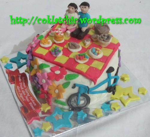 Cake Piknik dan sepeda