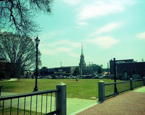 The Courthouse Square on Good Friday by danielrpartain