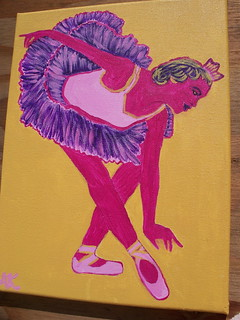 Pop-Art Ballerina painting