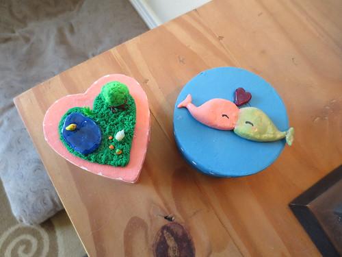 Elle's handmade Valentine's Boxes