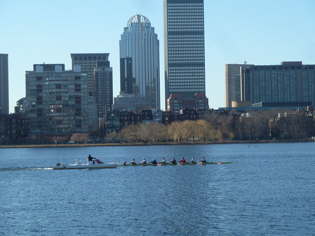 Morning rowing on the Charles River, Boston MA