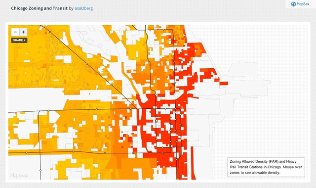 Chicago Zoning and Transit | MapBox