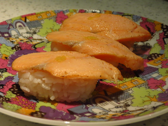 Roasted Salmon Nigiri