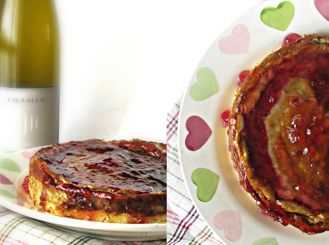 Cheese Cake Salato di Crescenza e Gorgonzola su Crosta di Taragna al Pecorino