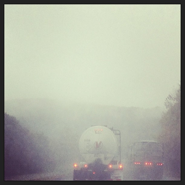 Apr 14 - challenge {it was a challenge driving home from Florida through a tropical storm!} #photoaday #rain #weather #highway #smokeymountains #traffic