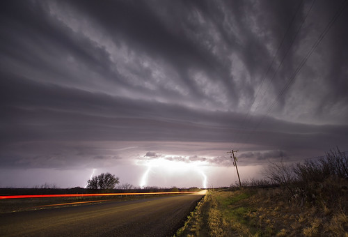 Supercell, Lightning and Car lights - Part 2 [Explored]