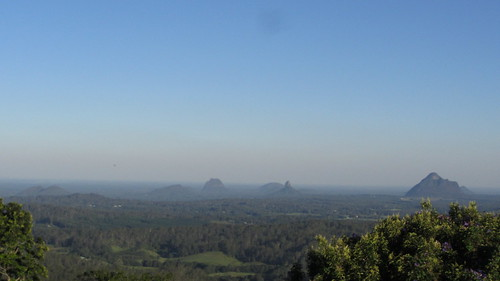 the glass house mountains, looking south
