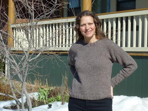 Knit sweatshirt