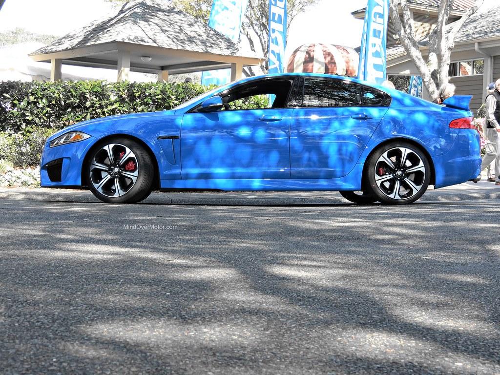 French Blue Jaguar XFR-S