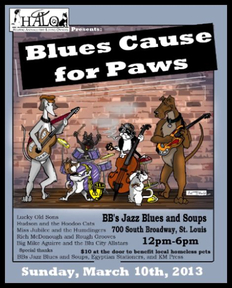 Blues Cause for Paws 3-10-13