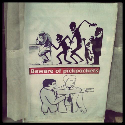 beware of pickpockets #flyer #vitrine #beer #belgian #brussels #streetart