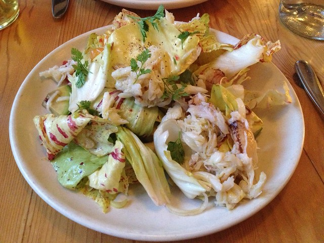 Hand picked dungeness crab salad - Contigo