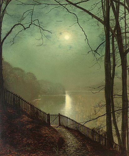 Moonlight on the Lake, Roundhay Park, Leeds, 1872