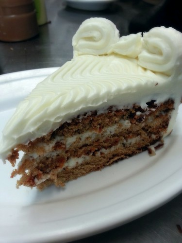 carrot cake with cream cheese frosting by pipsyq