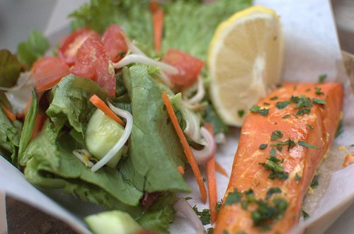 Smoked trout & salad