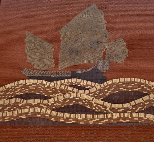 Boat Brick Art, China Town, Manchester by Angela Seager