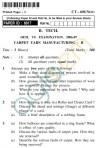 UPTU B.Tech Question Papers - CT-601 - Carpet Yarn Manufacturing-II