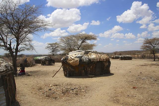 A Samburu tribe's camp
