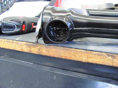 Powder Coat Inside Swing Arm on Drive Shaft Side