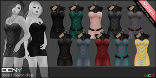 DCNY_Belted Chevron Dress Colors