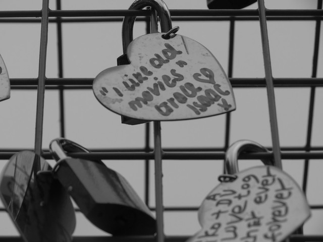 Love locks in Covent Garden