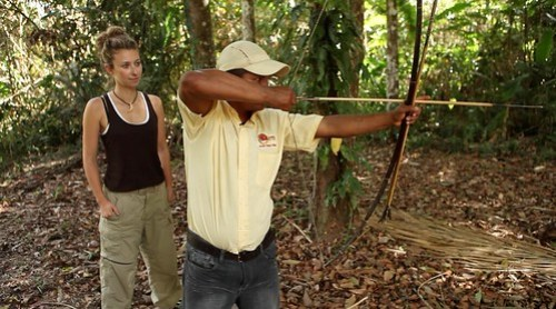 Juila Dimon learning jungle survival in Guyana