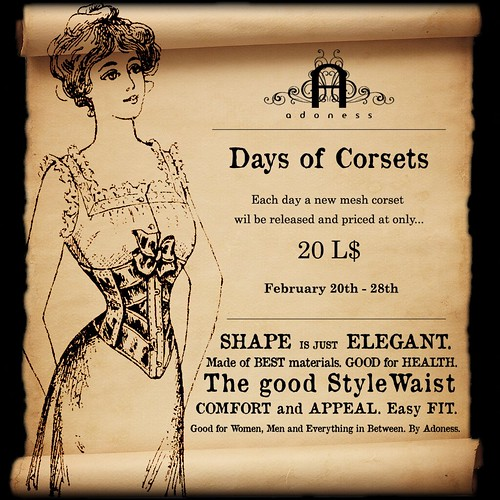 adoness_ Days of Corsets_ poster