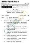UPTU B.Tech Question Papers -ME-801 - Power Plant Engineering