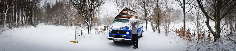 Campervan in the snow, t3/t25 vw Transporter